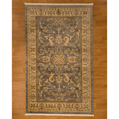 Bali Oriental Turkish Gray/Brown Area Rug Rug Size: Rectangle 6 x 9