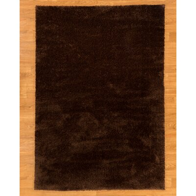 Merida Dark Brown Area Rug Rug Size: 5'3