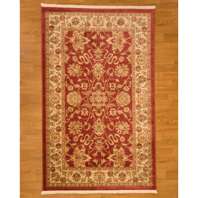 Turkish Beacon Beige/Red Area Rug Rug Size: 5 x 8