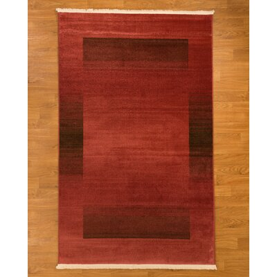 Bahama Red Area Rug Rug Size: 5 x 8