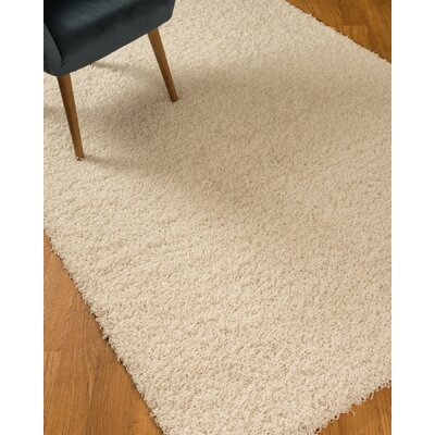 Isla Shag Ivory Area Rug Rug Size: Rectangle 27 x 411