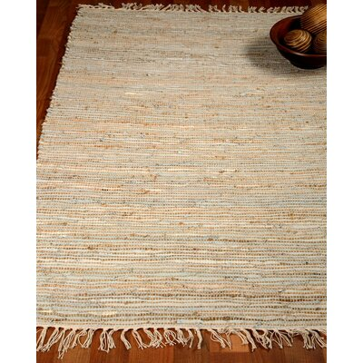 Brilliance Hand-Woven Ivory/Blue Area Rug Rug Size: Rectangle 8 x 10
