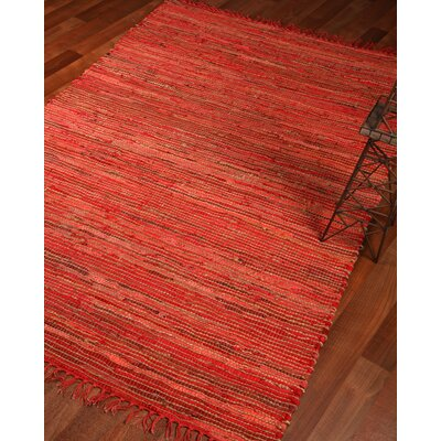 Concepts Hand-Woven Red Area Rug Rug Size: 9 x 12