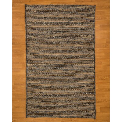 Riggins Hand-Woven Camel/Gray Area Rug Rug Size: Rectangle 5 x 8