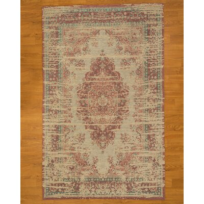 Avlon Gray/Red Area Rug Rug Size: 5 x 9