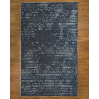 Riley Blue/Black Area Rug Rug Size: 8 x 10