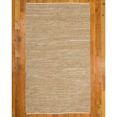 Brisco Handmade Beige Area Rug Rug Size: Rectangle 6 x 9