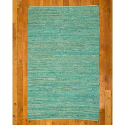 Barras Green Area Rug Rug Size: 6 x 9
