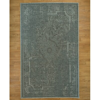 Hand Woven Gray Area Rug Rug Size: Rectangle 8 x 10