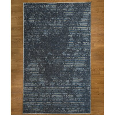 Hand Woven Gray/Blue/Black Area Rug Rug Size: Rectangle 5 x 8