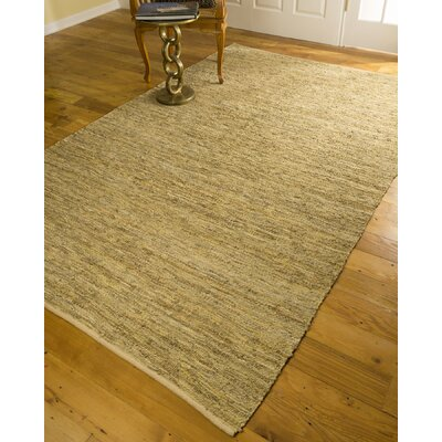 Hand-Loomed Beige Area Rug Rug Size: Rectangle 6 x 9