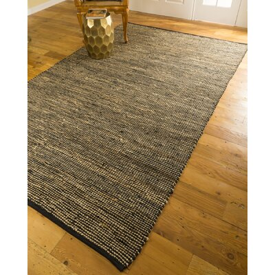 Hand-Loomed Brown Area Rug Rug Size: 6 x 9