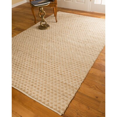 Hand-Loomed Beige Area Rug Rug Size: Rectangle 8 x 10