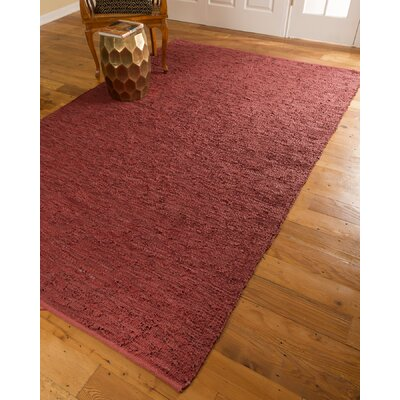 Hand-Loomed Red Area Rug Rug Size: Rectangle 6 x 9