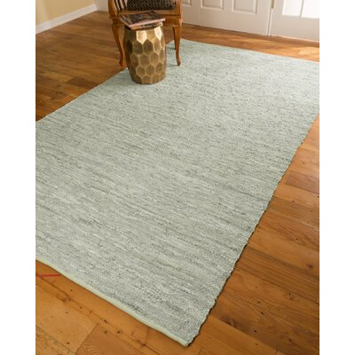 Hand-Loomed White Area Rug Rug Size: Rectangle 6 x 9