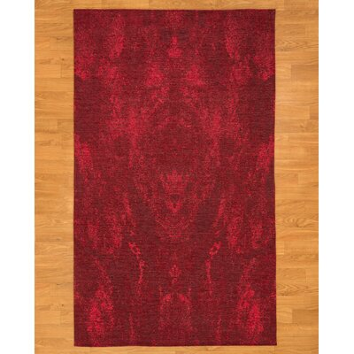 Red Area Rug Rug Size: Rectangle 8 x 10