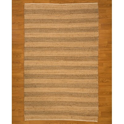 Hand Woven Beige Area Rug Rug Size: Rectangle 5 x 8