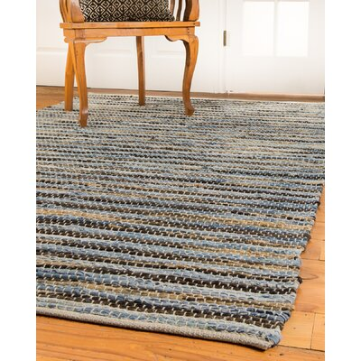 Malibu Hand-Loomed Blue/Brown Area Rug Rug Size: 8 x 10