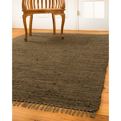 Marchesa Hand-Loomed Brown Area Rug Rug Size: Rectangle 5 x 8