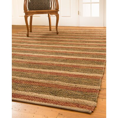 Meera Hand-Loomed Red/Green Area Rug Rug Size: 6 x 9