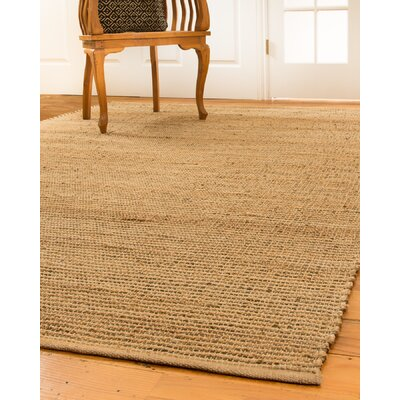 Nottingham Hand-Loomed Tan/Beige Area Rug Rug Size: Rectangle 8 x 10