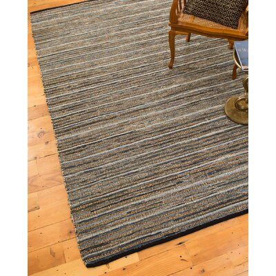 Navarre Hand-Loomed Blue/Brown Area Rug Rug Size: 6 x 9