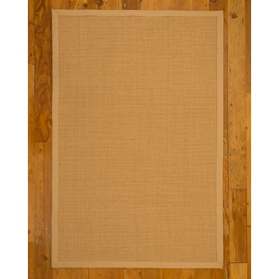 Shiasta Hand-Woven Beige Area Rug Rug Size: Rectangle 6 x 9