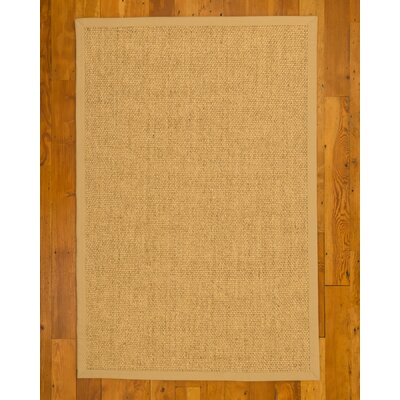 Bona Hand-Woven Beige Area Rug Rug Size: Rectangle 4 x 6