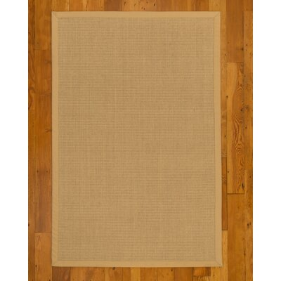 Adams Hand-Woven Beige Area Rug Rug Size: Rectangle 4 x 6