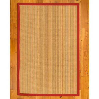 Malaga Hand-Woven Beige Area Rug Rug Size: Rectangle 9 x 12