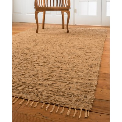 Limassol Leather Hand-Woven Light Brown Area Rug Rug Size: 8 x 10