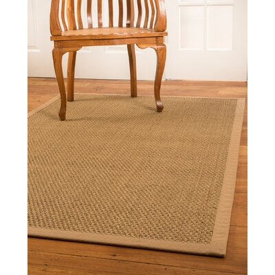 Reyna Hand-Woven Beige Area Rug Rug Size: Rectangle 4 x 6