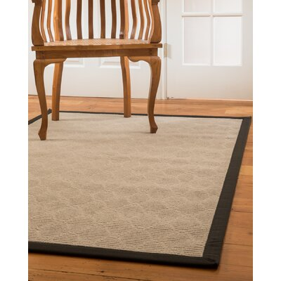 Lancer Hand-Woven Beige Area Rug Rug Size: Rectangle 4 x 6