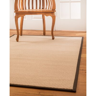 Cyprus Hand-Woven Wool Beige Area Rug Rug Size: Rectangle 8 x 10