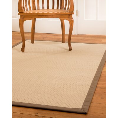 Lazio Hand-Woven Beige Area Rug Rug Size: Rectangle 5 x 8