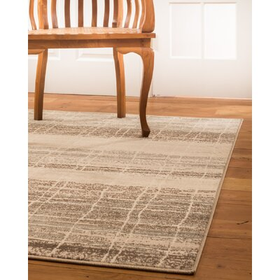 Cascadia Beige/Brown Area Rug Rug Size: Rectangle 4 x 6