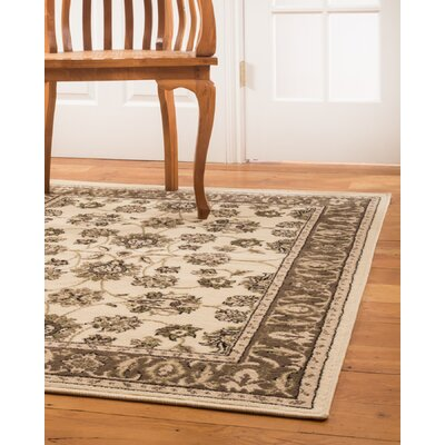 Chastain Cream/Brown Area Rug Rug Size: Rectangle 8 x 10