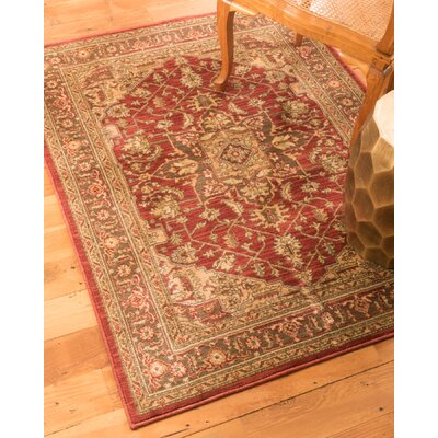Chiara Beige/Red Area Rug Size: Rectangle 8 x 10