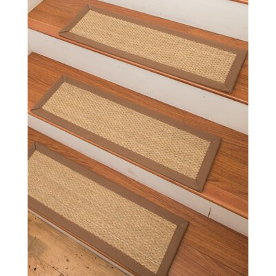 Positano Seagrass Carpet Beige Stair Treads 11659