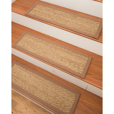 Beach Seagrass Carpet Beige Stair Tread