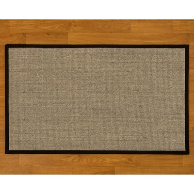 Buschwick Handmade Black Area Rug Rug Size: Rectangle 4 x 6