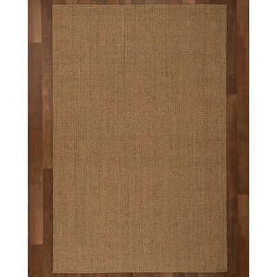 Pavillion Sisal Handmade Brown Area Rug Rug Size: Rectangle 4 x 6