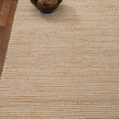 Moscow Hand-Woven Beige Area Rug Rug Size: Rectangle 4 x 6