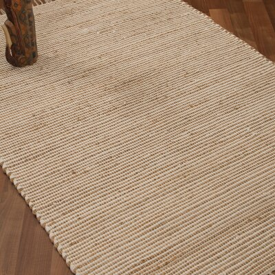 Moscow Hand-Woven Beige Area Rug Rug Size: Rectangle 6 x 9