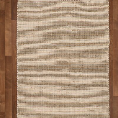 Moscow Hand-Woven Beige Area Rug Rug Size: 5 x 8