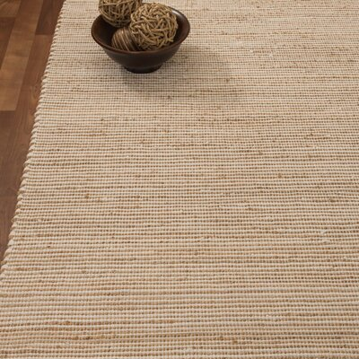 Moscow Hand-Woven Beige Area Rug Rug Size: 8 x 10