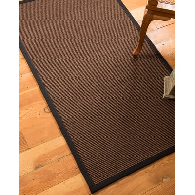 Ripley Hand-Woven Brown Area Rug Rug Size: Rectangle 4 x 6