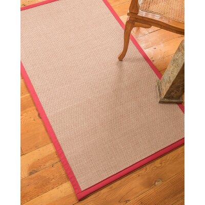 Ryan Hand-Woven Beige Area Rug Rug Size: Rectangle 4 x 6