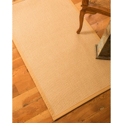 Brashears Hand-Woven Tan Area Rug Rug Size: Rectangle 2 x 3