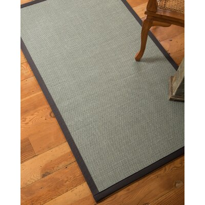 Arnold Hand-Woven Blue Area Rug Rug Size: Rectangle 4 x 6